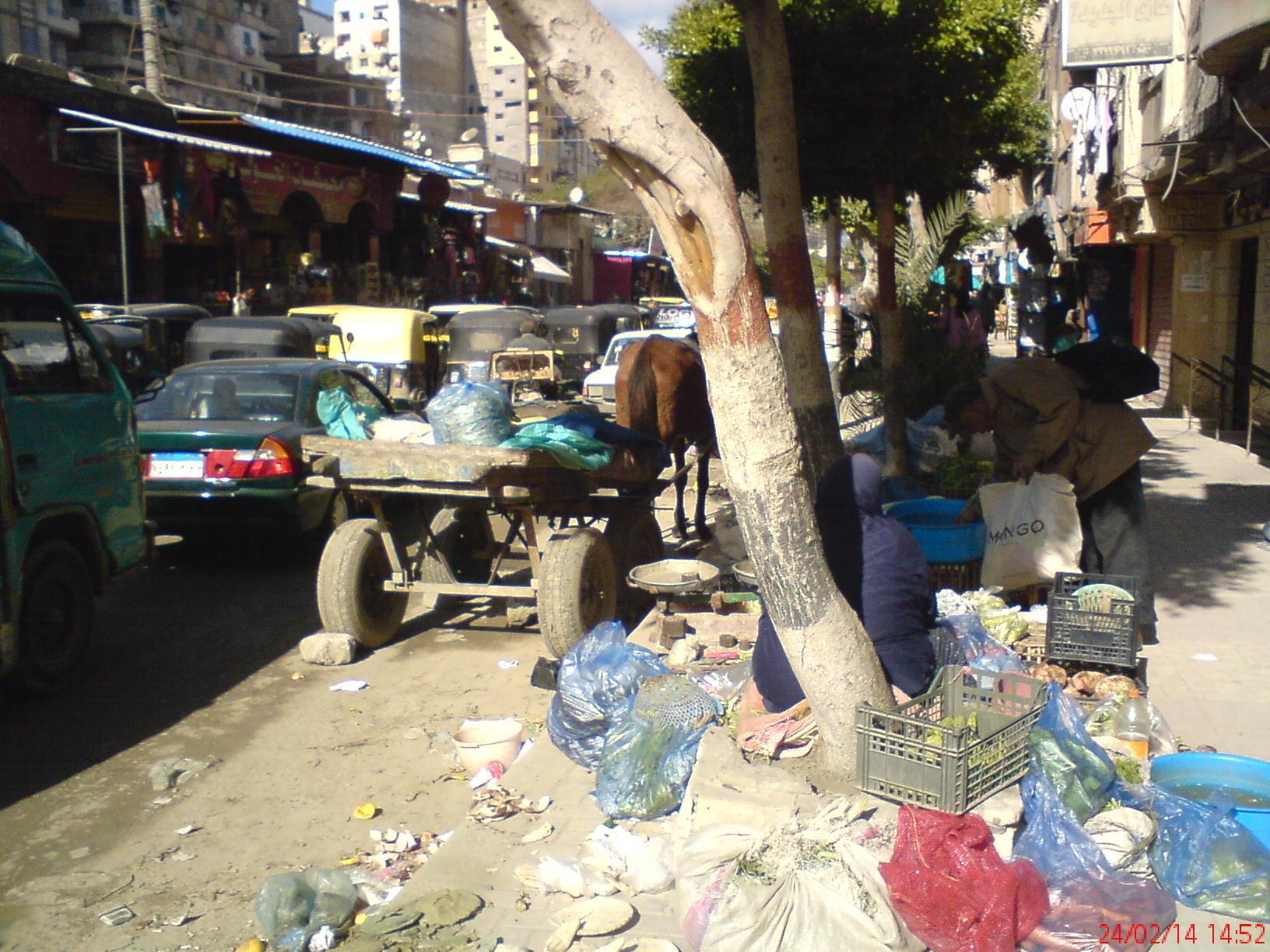 Rue de Mandara tout près du marché