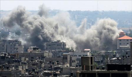 Raids israéliens sur la bande de Gaza Palestine. webdo.tn
